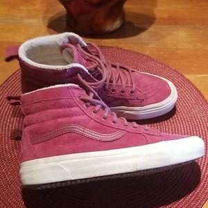 Vans. Raspberry suede. Size 6.5
